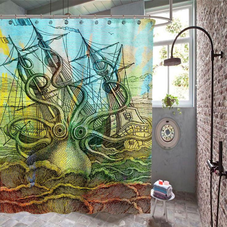 #octopus #sea #pattern #ship #sea #beach #davyjones #octopusshowercurtains #Unbranded #Modern #shower #curtain #showercurtain #bath #rings #hooks #popular #gift #best #new #hot #quality #rare #limitededition #cheap #rich #bestseller #top #popular #sale #fashion #luxe #love #trending #girl #showercurtain #shower #highquality #waterproof #new #best #rare #quality #custom #home #living #decor