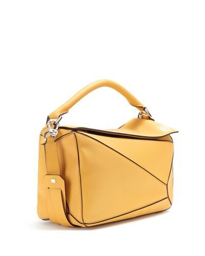 Loewe Puzzle Small Calf-Leather Bag in Yellow | Lyst