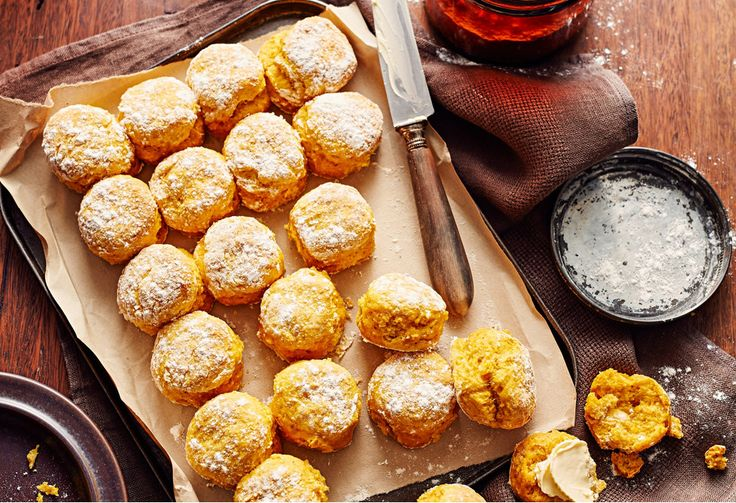 With a touch of spice and a few lighter additions, these tasty pumpkin scones would give Lady Flo a run for her money!