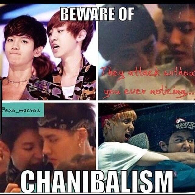 XD I thought it said cannibalism, the I realized it said Chanibalism. XD Chanyeol....