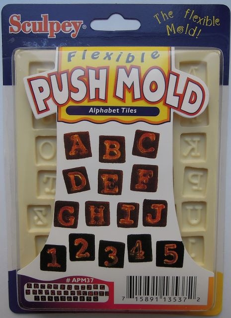 DECODANCE - Sculpey vtlačovací forma - Abeceda, Sculpey push mold - Alphabet