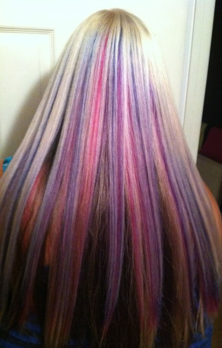 ... dark brown underneath. | Hair | Pinterest | Pink Blue, Blond and Dark