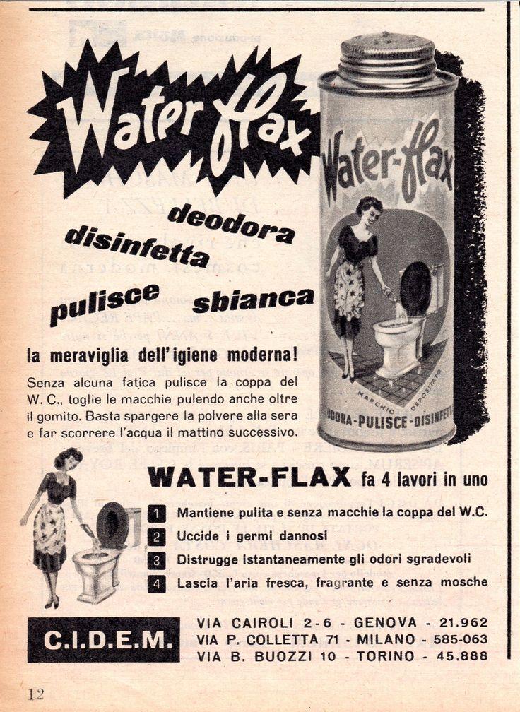 WATERFLAX - Detersivo per igienici - cm 11x15 (Grazia 1953)