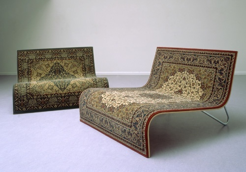 Magic Flying Carpet Sofa by Tonio de Roover repurposed rug chair