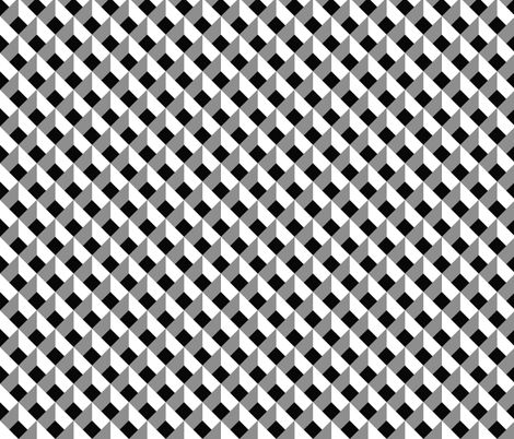 optical illusion lozenge black and white fabric by paysmage on spoonflower custom fabric