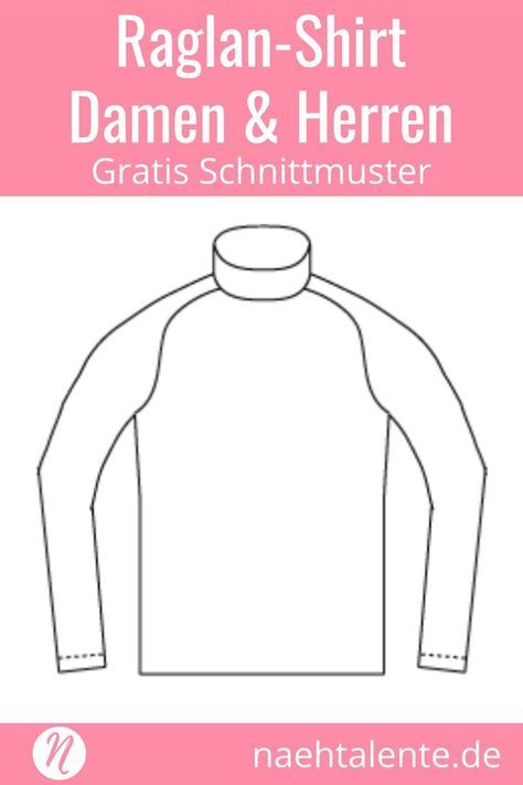 Raglan Shirt – Unisex Schnittmuster | Nähen | Pinterest | Nähen ...