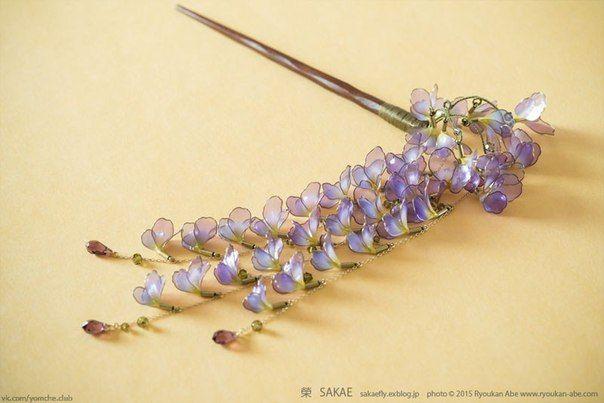 Канзаши - Эпоксидная смола - Ручная работа - Resin - Kanzashi - Handmade