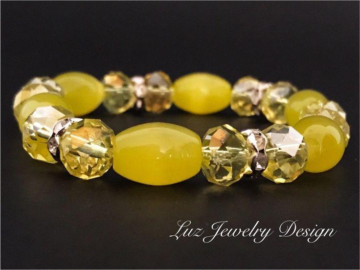 Pearl Yellow sun Bracelet -  Yellow Bracelet