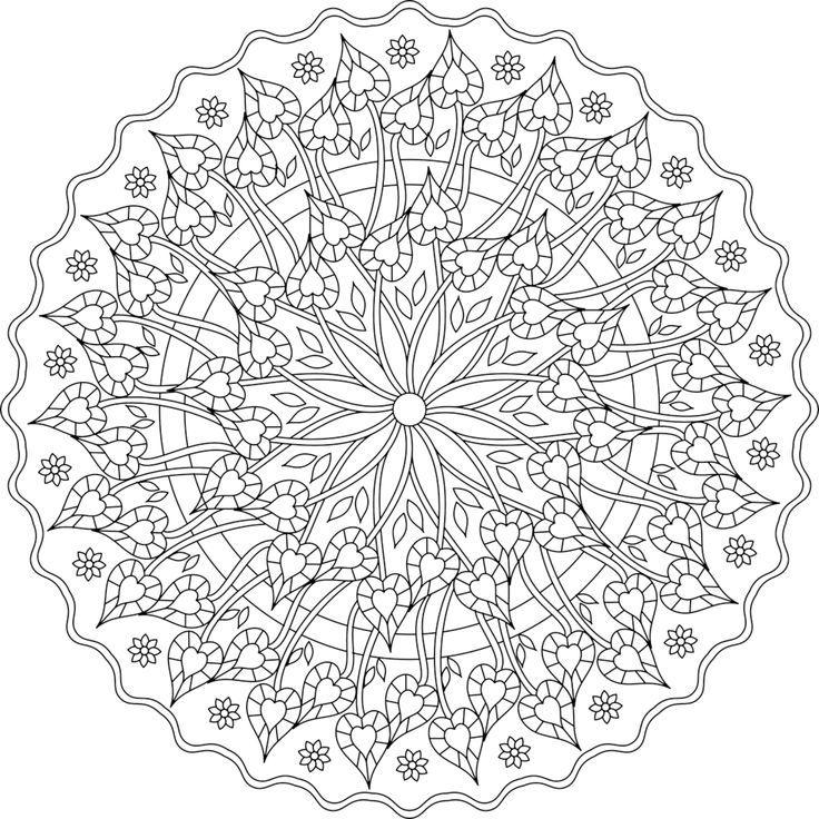 Mandalas Para Aliviar El Estres Kena Libro De Colores Mandalas Mandalas Imprimir