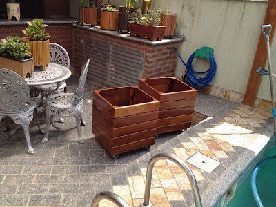 Atelier do Zero: Cachepôs de madeira