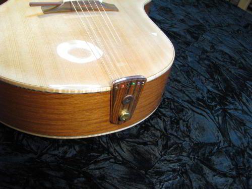 Tailpiece on the Ergocoustic   Guitarra: cordal   Guitar ...