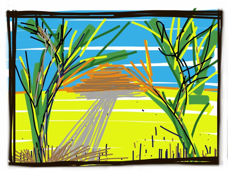 Sunrise - Sketching on Ipad- Sketchbook