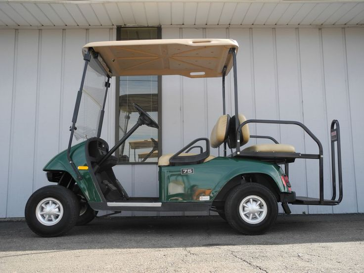 We have 4 of these 2009 E-Z-GO PDS electric golf cars equipped as campground specials with windshields, rear flip seats, deluxe lights, rearview mirrors, charge gauges, and NEW BATTERIES in stock for just $3490. See more at: http://www.powerequipmentsolutions.com/products-a-services/online-store/used-golf-carts/e-z-go-golf-carts/e-z-go-electric-golf-carts/841-2009-e-z-go-pds-electric-golf-cart-campground-special-green.html  #EZGO #PDS #electric #usedgolfcar #PES #Vandalia #partycart