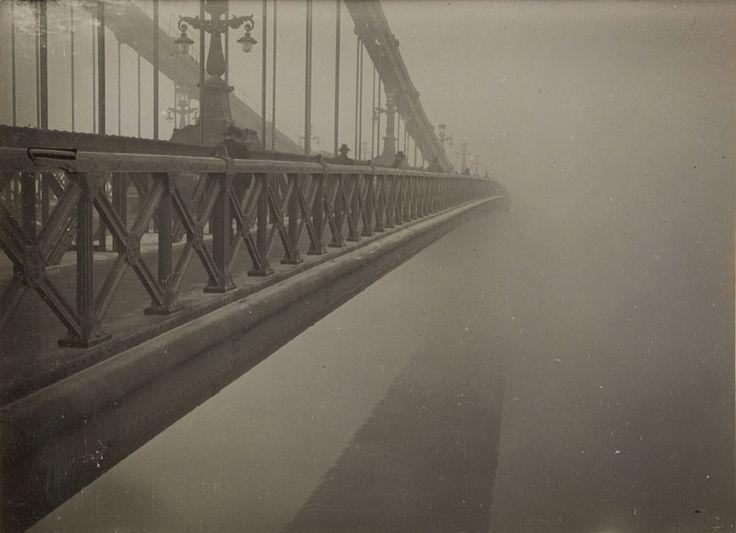 Imre Kinszki (Hungarian, 1901-1945), Untitled (Bridge and Fog) [Cím nélkül (Híd és köd)], ca. 1930