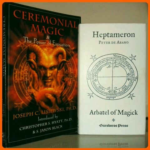 Two very connected books, CEREMONIAL MAGIC, The Power of Evocation which is a contemporary grimoire on how to use a classic grimoire from the middle ages called the Heptameron of Peter de Abano. Ceremonial Magic is a step by step manual on how to...