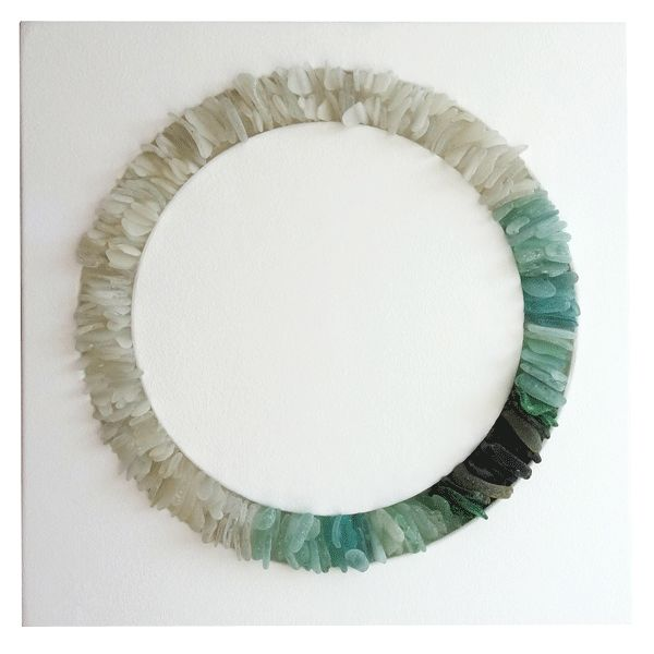 Jonathan Fuller is a sea glass genius. With a circular form, maybe I could recreate this wreath?