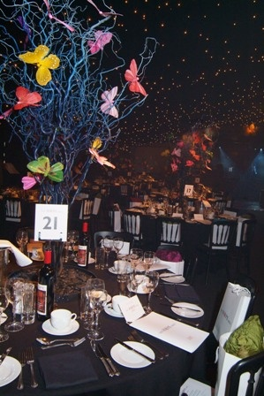 Hope Ball Butterfly Table Center Charity Ball Table