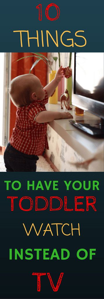 """In busy households, TV is often used to """"babysit"""" so that parents can get something done quickly. If we know TV really doesn't benefit toddlers, then what can they do instead? In this post I will describe 10 ideas of activities to use in place of TV and what benefits your toddler will gain from them."""