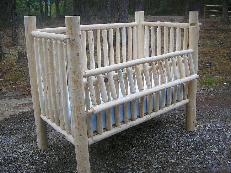 rustic baby cribs | ... the first Convertible Log Baby Crib! « Montana Custom Log Furniture