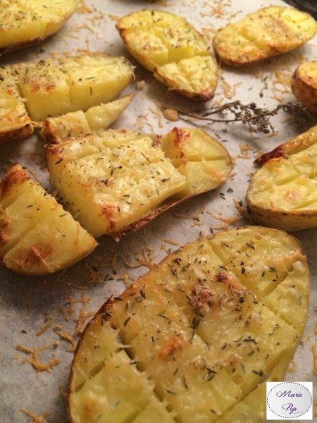 Pommes de terre quadrillées au parmesan - la recette