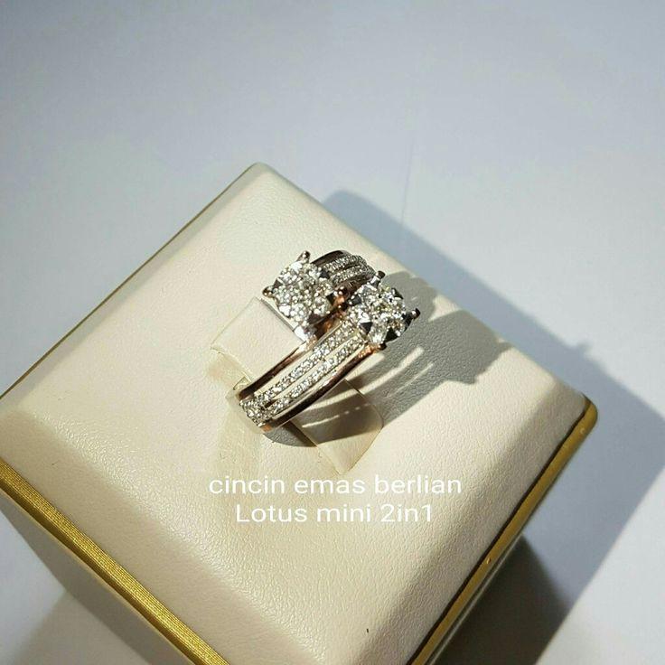 New Arrival🗼. Cincin Emas Berlian Lotus mini 2in1💍💎.   🏪Toko Perhiasan Emas Berlian-Ammad 📲+6282113309088/5C50359F Cp.Antrika👩.  https://m.facebook.com/home.php #investasi #diomond #gold #beauty #fashion #elegant #musthave #tokoperhiasanemasberlian