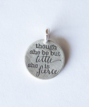 This is my daughter. :: Sterling Silver 'She is Fierce' Charm by Five Little Birds Jewelry
