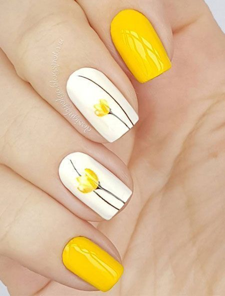 Mar 12, 2020 – 43 Pretty Floral Nail Design and Ideas for Spring – 40 Spring nails design and ideas with flowers #bright…