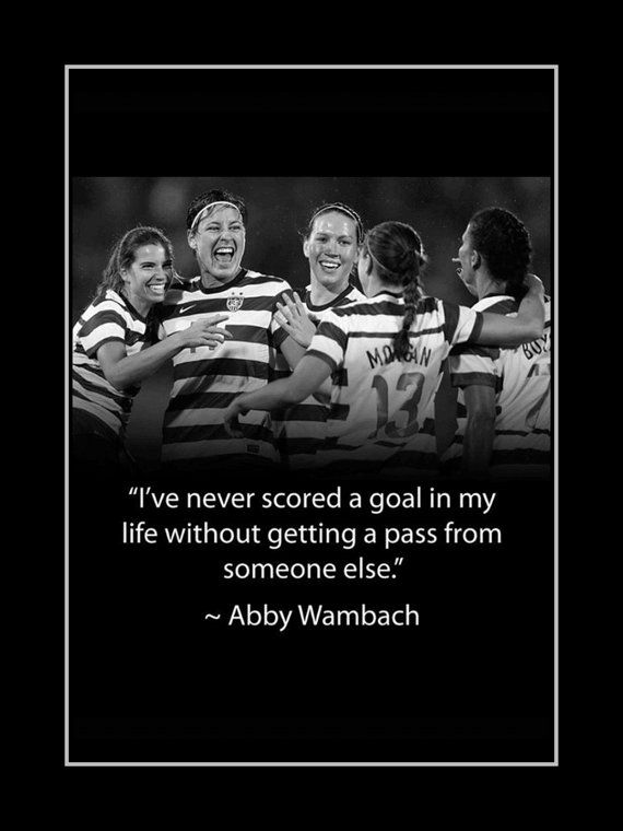 Soccer Poster Abby Wambach Olympic Soccer by ArleyArtEmporium, $11.99