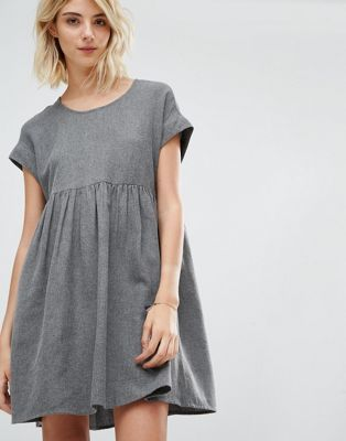Gat Rimon - Mala - Robe à manches courtes en coton brossé