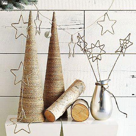 christmas: Christmas Diy, Star Garland, Christmas Decorations, Holidays, Trees, Christmas Ideas, Christmas Stars