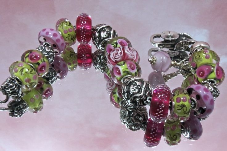Thumbelina's Garden - A great Trollbeads bracelet from a member on Trollbeads Gallery Forum! Thank you S.M.!