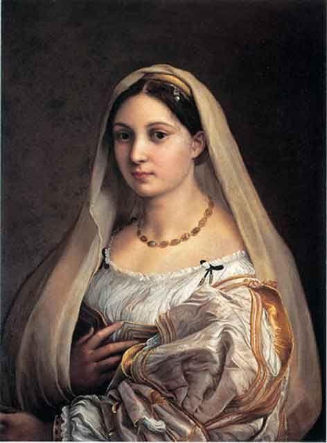 RAFFAELLO- La Velata (1516) Olio su tavola @Galleria Palatina, Firenze