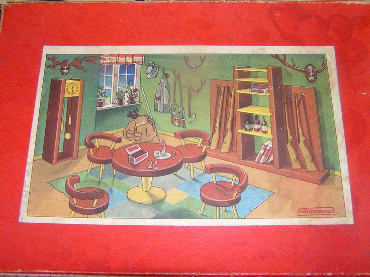 Česká Miniaturní dřevěný nábytek: Schowanek, Tofa, DETOA - panenky Domy minulost a současnost