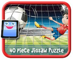 Football/Soccer Online jigsaw puzzle for kids