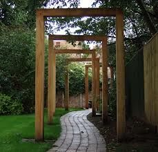 oak pergola Large garden needed. This leads you somewhere....