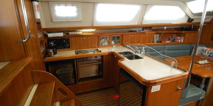 Marlow-Hunter Hunter 44DS Galley  See more of her here: