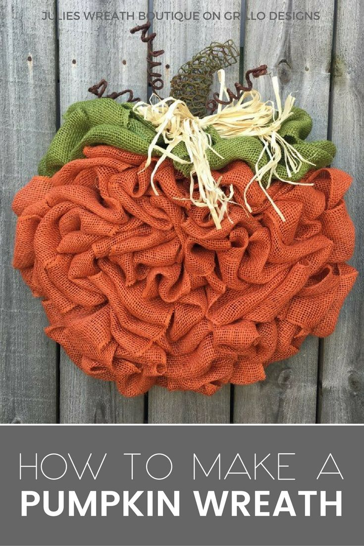 Best 25 Pumpkin Wreath Ideas On Pinterest Burlap