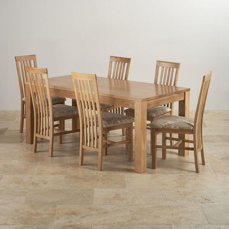 Oakdale Natural Solid Oak Dining Set