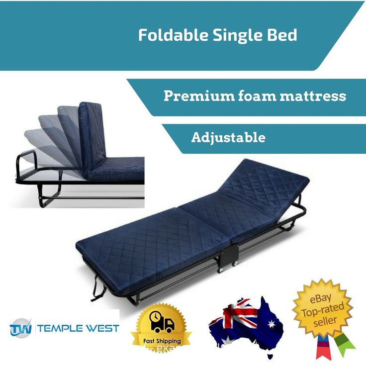 Spare Single Bed Portable Fold-able Guest Camping Trundle Adjustable Mattress