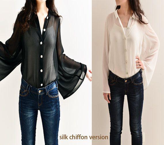Empty Cicada  Special sleeve silk shirt Y5111S by idea2lifestyle, $75.00