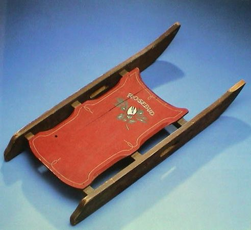 Rosebud Sled--won by a 12-year-old boy in an RKO Pictures publicity contest in 1942, sold at auction through Christie's for $233,500 in 1996.