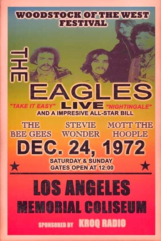 The Eagles concert poster from 1972...