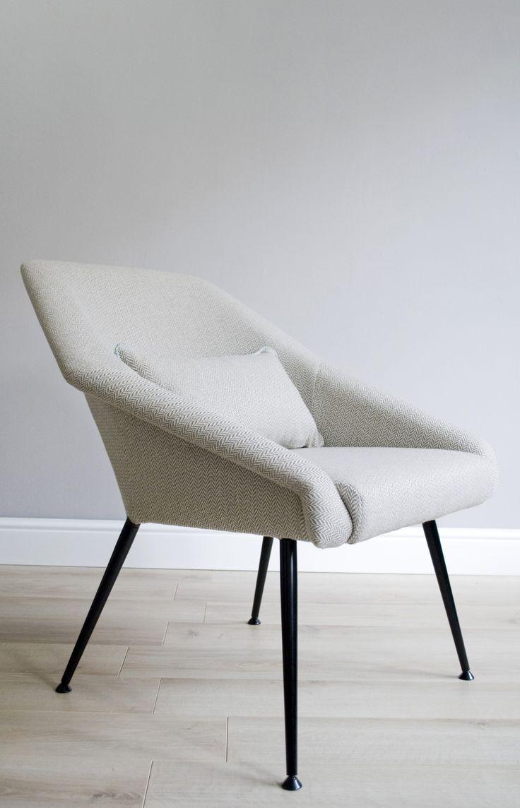 Upcycled mid century modern armchair
