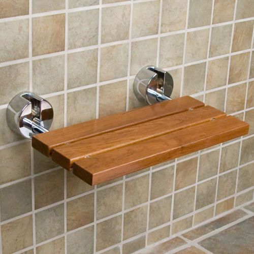 "MPN:CRS501102 Crosslinks is excited to offer our new 20"" Burmese Teak wood folding shower bench. Add convenience and bring the comfort of a spa to your shower with the Teak Wood Modern Folding Shower"