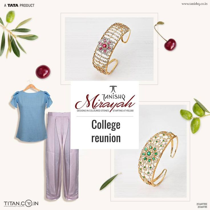 Elegant statement bracelets that add a sense of timeless beauty to those boxy style tops and culottes, for your next college reunion.