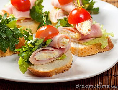 Ham canape canapes open face sandwiches pinterest for How to make canape
