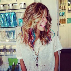 Blond hair with streaks, for me shades of brunette like this??? I cannot commit to one shade of all over. Too boring.
