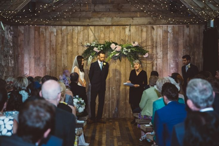 Byre Inchra wedding venue,Glasgow wedding photographer,barn wedding,fairy lights,floral headpiece,floral theme,ross and jenny,stylish wedding,