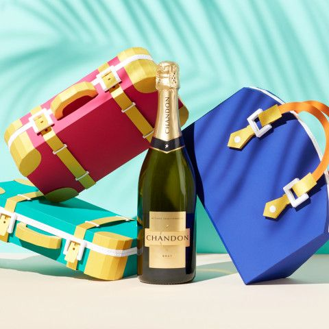 REVERBERE , papercraft, purse and champagne