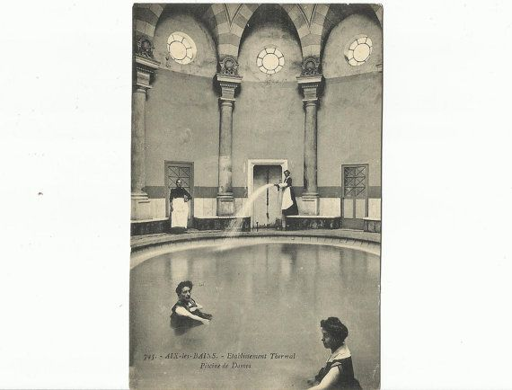 Thermal Bath Pool  Digne  Digne les Bains France by StarPower99, $5.00